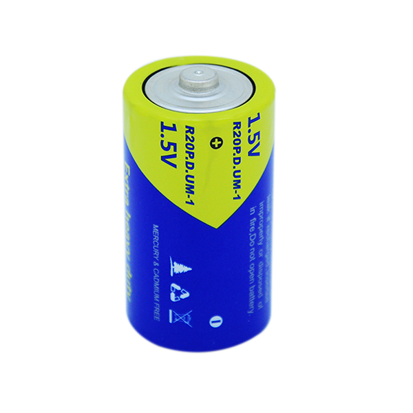 R20P PKCELL Super Heavy Duty Battery 1.5V D Size Carbon zinc