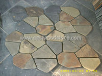 slate flake yellow slate paving stone on net