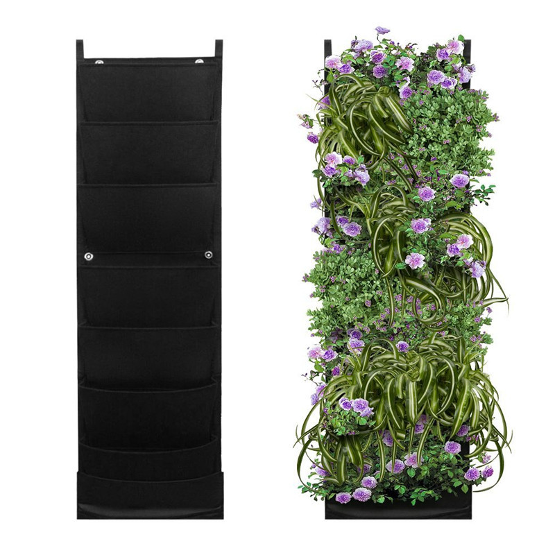 outdoor plant grow on wall planter grow bags