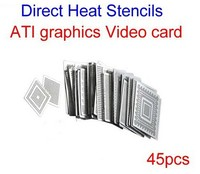 hot sale Direct Heat Stencils for ATI graphics Video card IC chips 45pcs BGA Reballing Kit