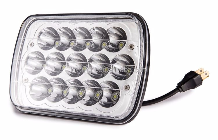 "Sealed beam 7"" 5""x7""LED Rectangular Headlight with DRL for truck"