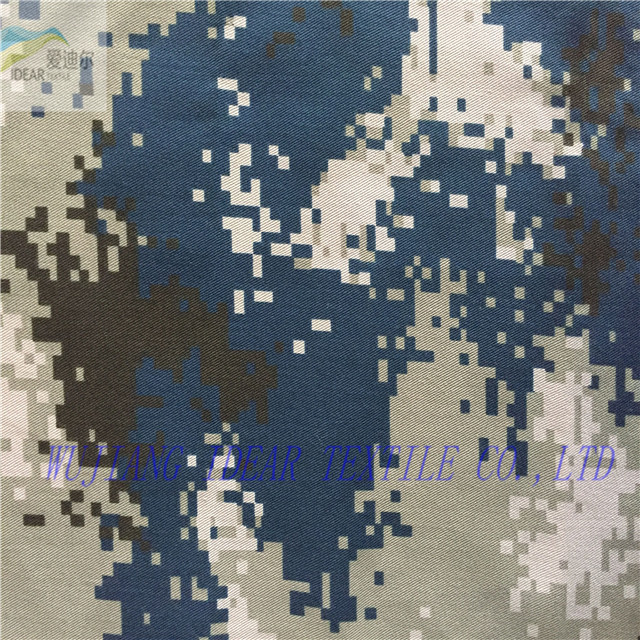 Polyester/Cotton camouflage printed fabric