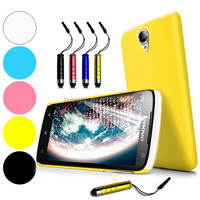 Hybrid Hardshell Back Case For Lenovo S820, 3pcs/Lot Cover+Screen Guard+Stylus Pen For Lenovo With Free Shipping Cost By DHL/UPS