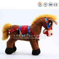 electric soft fabric cartoon plush horse toy