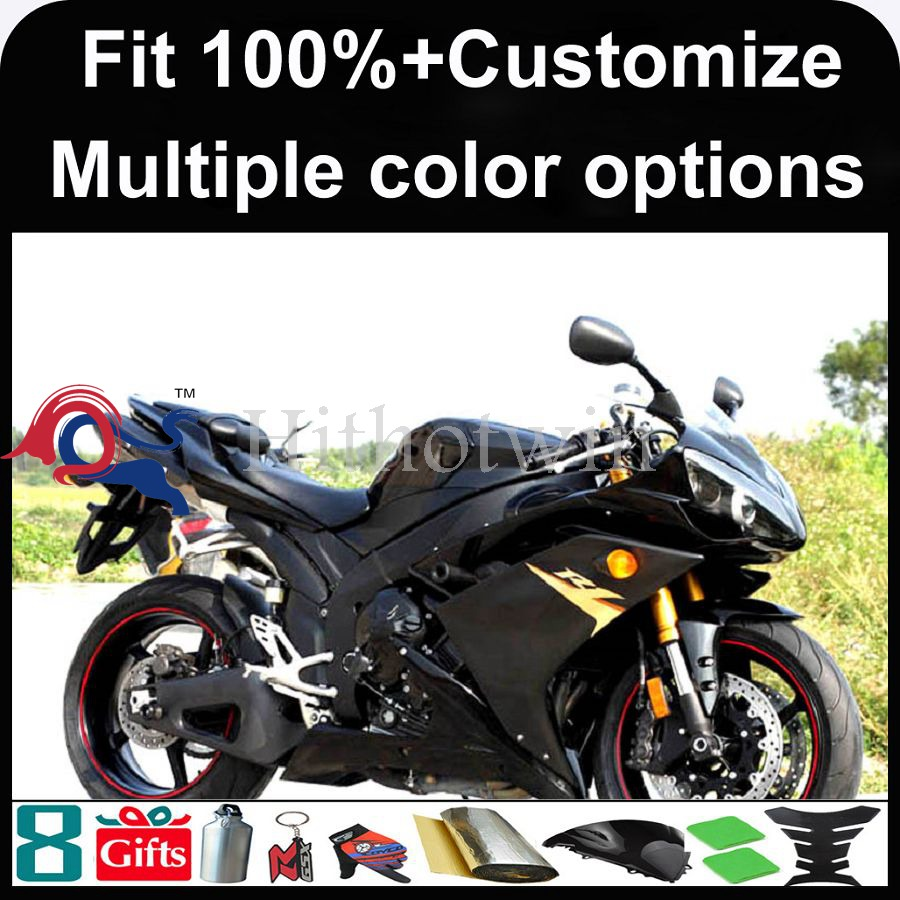 INJECTION MOLDING panels 2007 <strong>2008</strong> YZFR1 ABS Plastic Matte Black <strong>R1</strong> <strong>Fairing</strong> Set Fit For yamaha YZF <strong>R1</strong> 2007 <strong>2008</strong> YZF-<strong>R1</strong> 2007 200