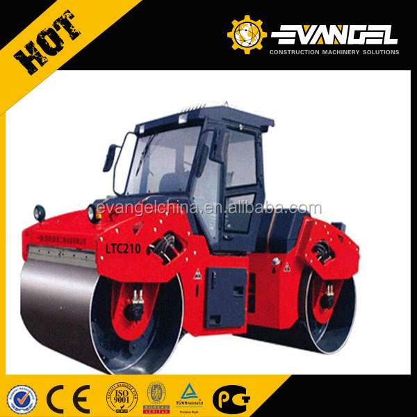 LUTONG 10ton road roller with drouble drum Vibrate LTC210
