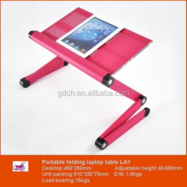 Mesa port til reclinable en la cama sof aluminio soporte del ordenador port til mesas - Soporte portatil sofa ...