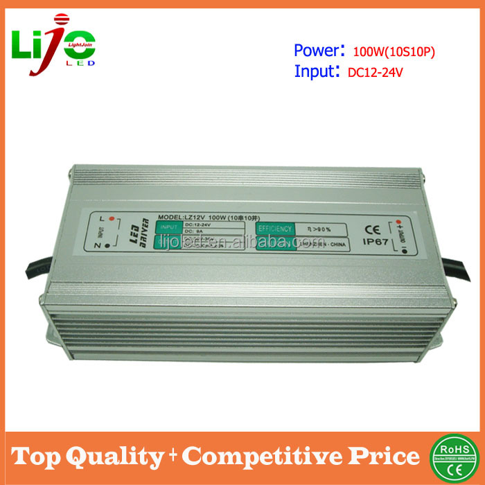 dc 3000ma ip66 waterproof 100w 12v led driver
