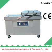 double chamber vacuum packing machine for pork luncheon meat