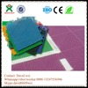 Easily installed pp interlocking flooring interlocking studded tiles crossfit rubber flooring for outdoor playground QX-137B