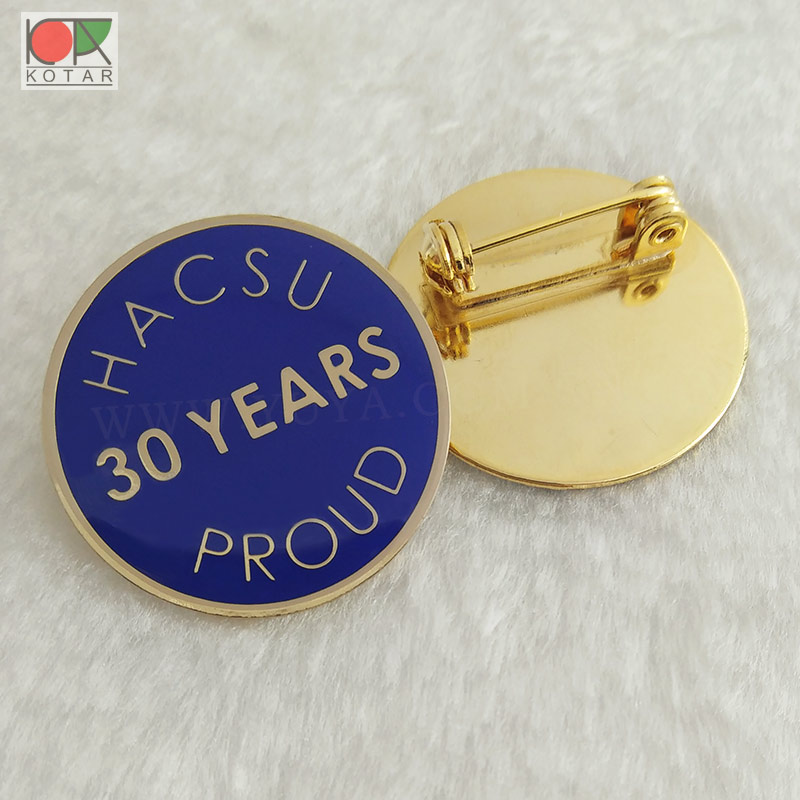 bespoke 30 years anniversary lapel pin