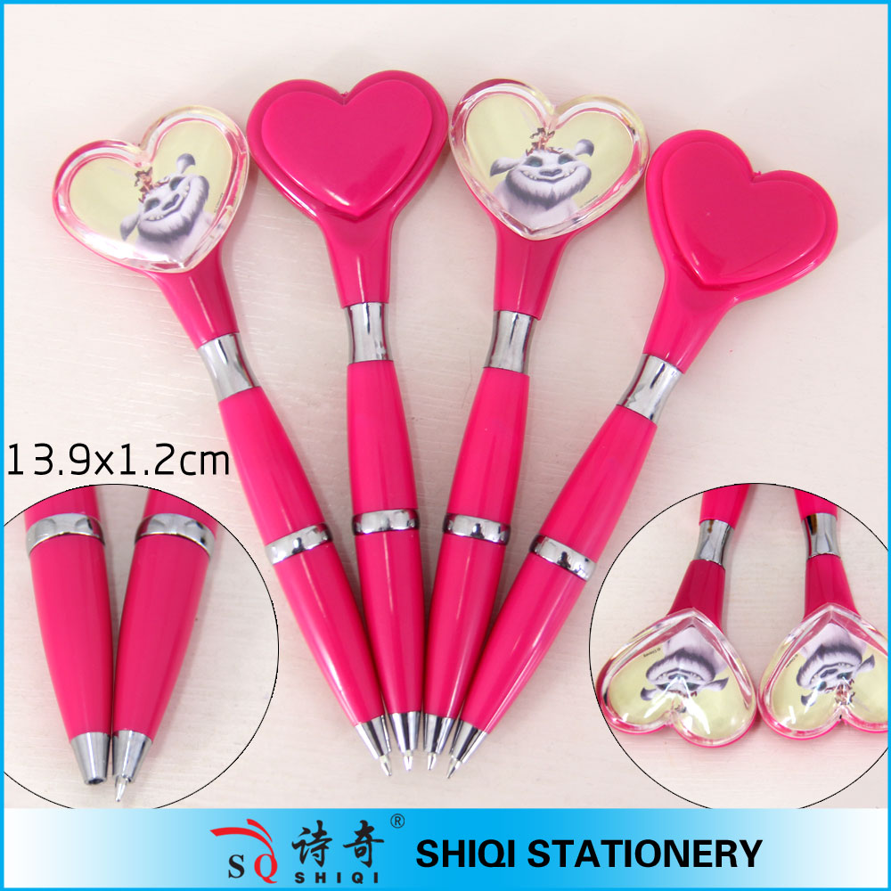 Promotional Fashionable heart top design customsize pen