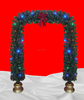 Fiber Optic Christmas Arch as Christmas Decoration