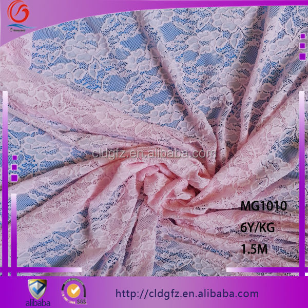 MG1010 2014 pop pink stretch fabric clothing decorative laces