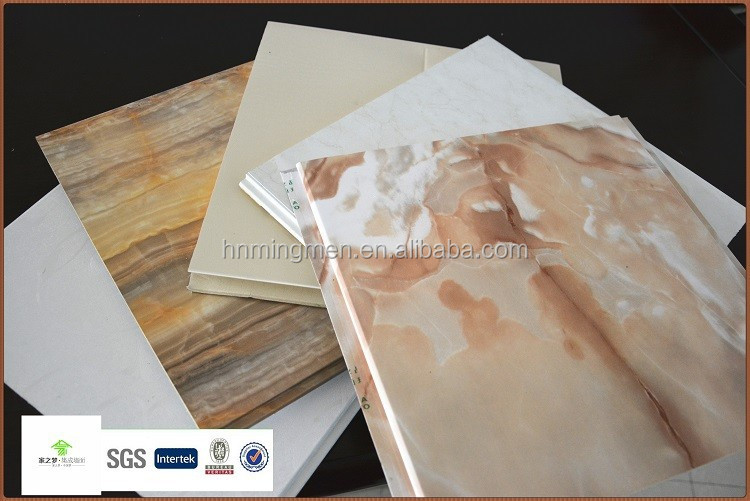 thin stone grain pvc panel for ceiling