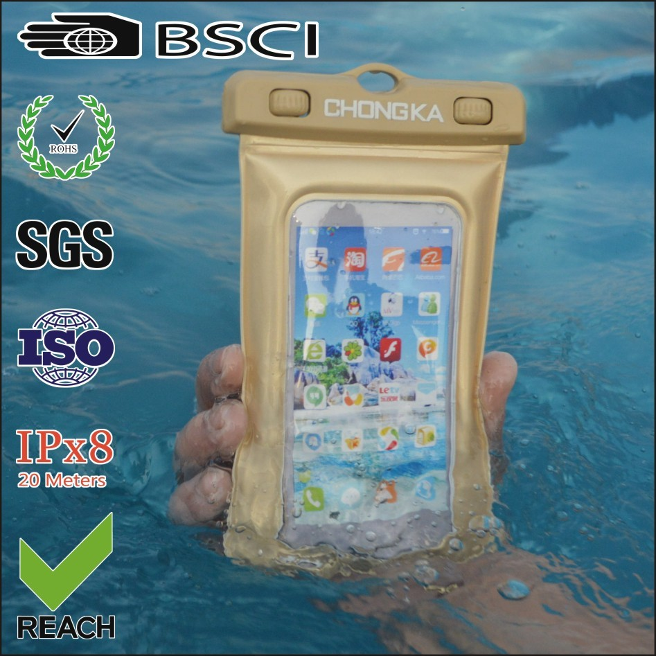100% waterproof phone cover bag for iphone 5s