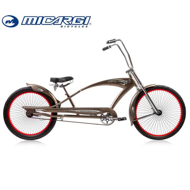 Micargi 26 inch Oversized bicycle single speed Chopper Stretch bike