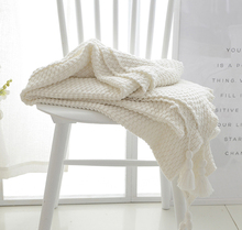 SZPLH Fashion Heavy White Knit Throw Blanket For Sofa Bedding or Couch