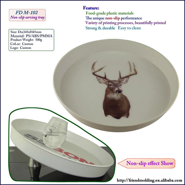 New wholesale Anti-slip novelty plastic bar serving tray