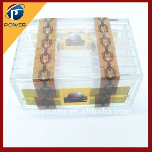 Magic crystal lock box magic trick wonderful box of magic coin box
