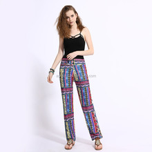 2017 newest printed palazzo pants women factory