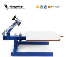 T shirt small printing machines suppliers 1 color 1 station screen printing press