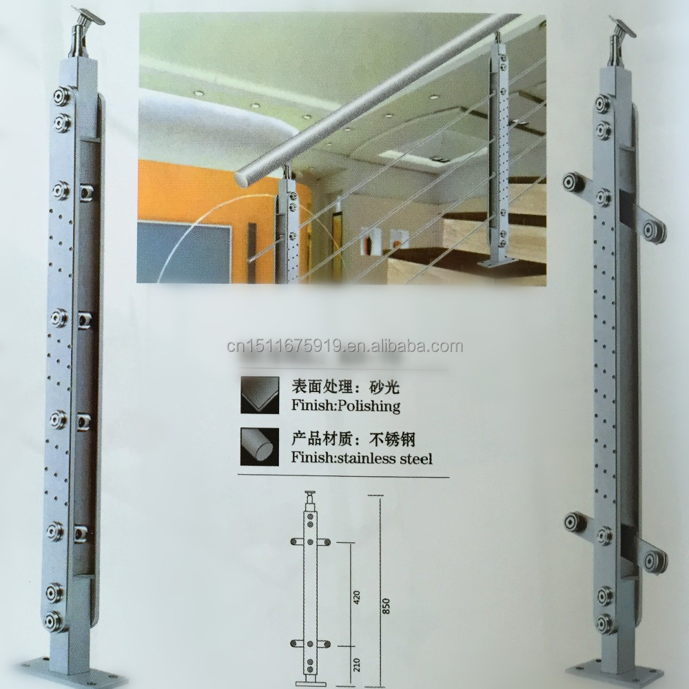 stainless steel 304/ 316 porch stair railing/column