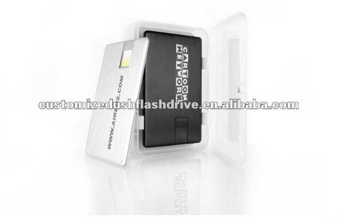 promtion gift 8gb usb credit metal card usb flash drive
