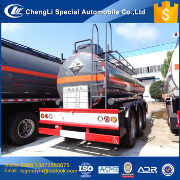 Best quality low price 3 axle 18000 liters 20000 liters concentrated sulfuric acid transport tank semi trailer for sale