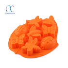 Bakeware Cake Cup 8 Cavity Insect Assorted Shapes Silicone Cake Mould