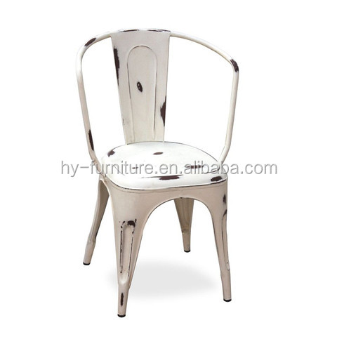 Vintage industrial metal chair in antique design HYX-503E