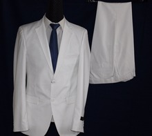 high quality cheap men coat pant design white men suit wedding