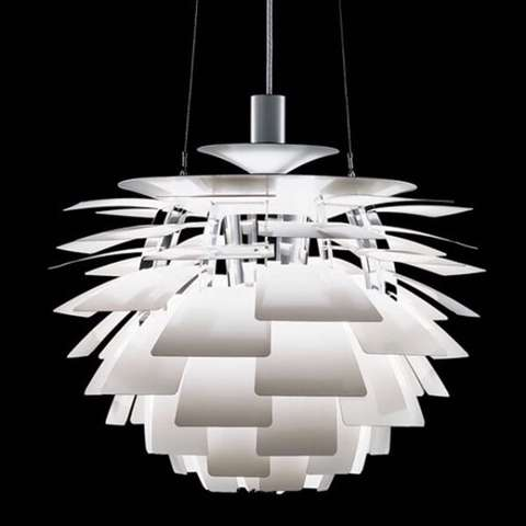 Contemporary Design White metal pendant light creative Art decor lamp