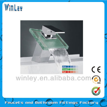 LED glass faucet