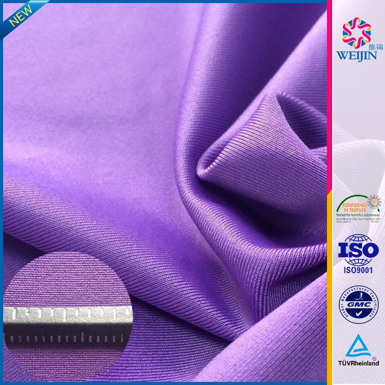 High-quality Tricot Purple Thick Polyester Moderate Stretch Knit Fabrics