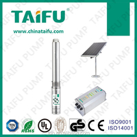 TAIFU 4TSC dc brushless motor with battery function brorehole solar powered water pump irrigation system