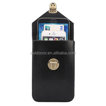 5.7 Inch Universal Fashionable Vertical Crazy Horse Texture Three Layers Multi-function Leather Case