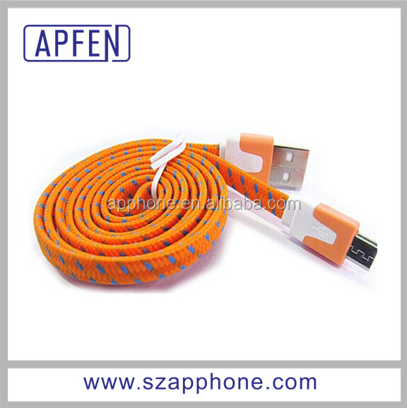 Orange Tpe Micro Usb Charging Cable