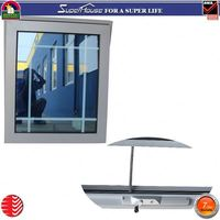 Wholesale decorate cheap window with grill design polycarbonate window awning