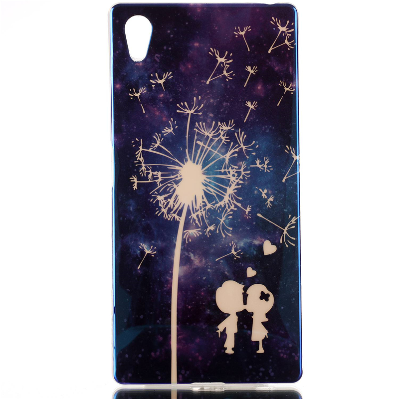 Customed IMD Blue Light TPU Mobile Phone Case For Sony Xperia Z5