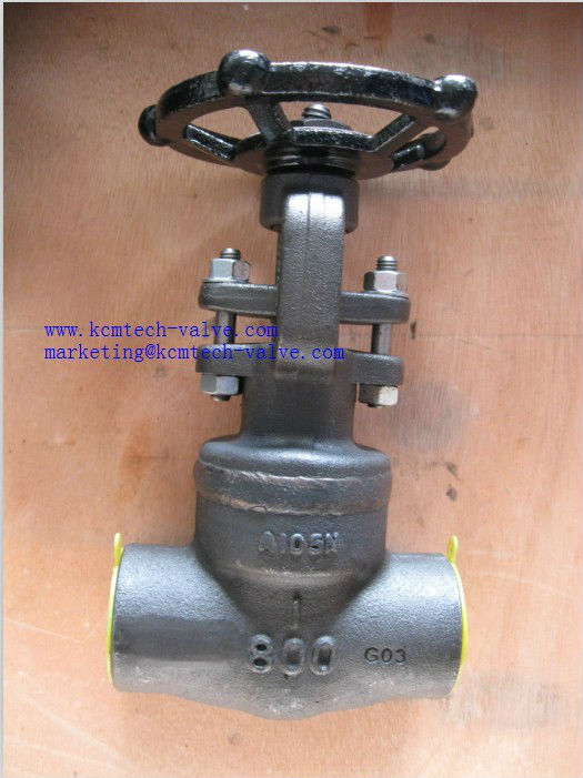 A105 thread forged gate valve( SW,BW)