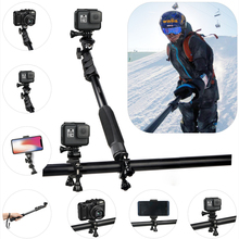Multipurpose sports camera blue tooth selfie stick tripod for diving surfing skiing outdoor live broadcast
