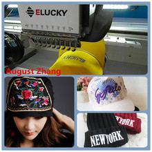 High Speed Elucky cap Embroidery Machine for baseball caps