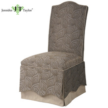 Home furniture dinning room table sets dinning chair/wood frame fabric upholstery table set chair/high back parson dinning chair