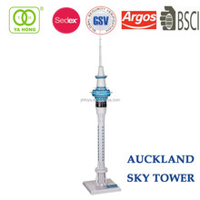 3D famous Architectural building paper model of tree sky tower