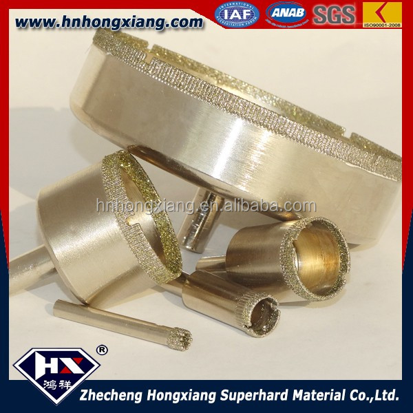 electroplated diamond drill bit for glass tile