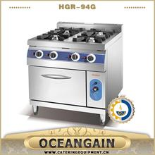 catering gas range with 4 burner & oven manufacturer