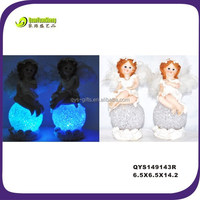 Resin figurine manufacturer&polyresin led cute fairy garden