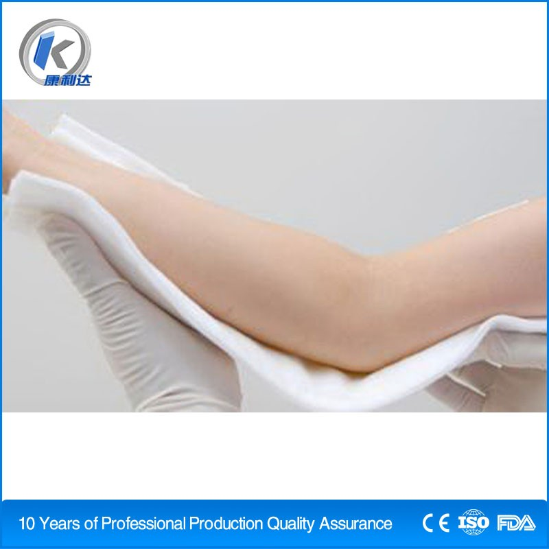 Rapid ossification orthopedic fiberglass casting splint for surgical polyester material