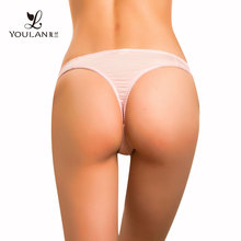 Hot Sales Latest Stylish Young Lady Transparent Thong Underwear